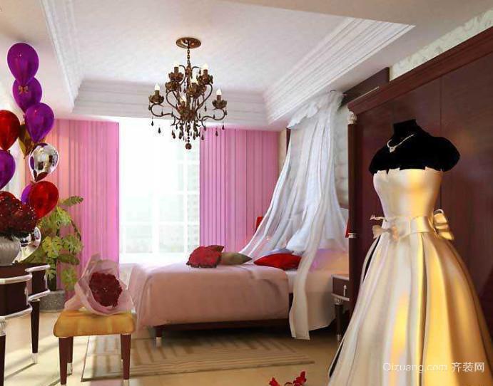 50平米欧式婚房布置装修效果图