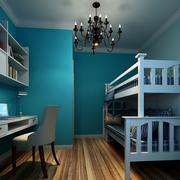 简约小清新淡蓝色儿童床