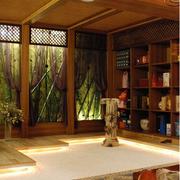 日式简约风格深色吧台装饰