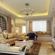 欧式奢华风格客厅背景墙装饰