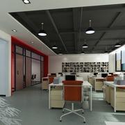 现代办公室整体图