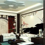 中式简约风格原木拱门装修