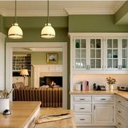美式清新风格厨房石膏板吊顶装饰