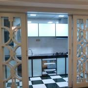 后现代风格田园厨房推拉门装饰