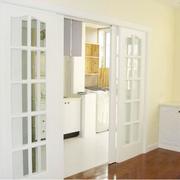 欧式田园风格白色系厨房推拉门装饰