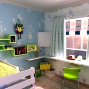 典雅色儿童房设计