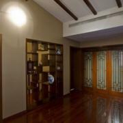 中式风格简约客厅博古架装饰