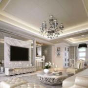 欧式奢华白色系电视墙饰装饰