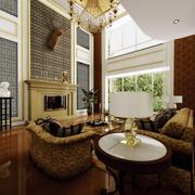 美式客厅魔块背景墙