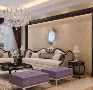 复式楼客厅液体壁纸装修效果图