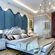 地中海卧室石膏板吊顶装饰