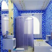 地中海风格卫生间蓝色墙饰装饰