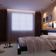 现代简约风格卧室窗户装饰
