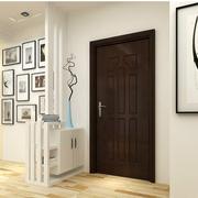 白色简洁客厅玄关