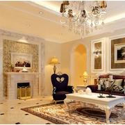 欧式经典风格客厅吊顶装饰