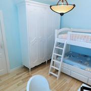 地中海简约儿童房上下铺装饰