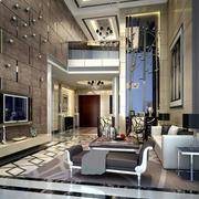 后现代风格大型高挑客厅吊顶装饰