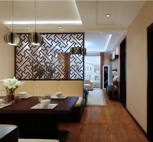 美式 客厅 隔断 木制 屏风 装修 效果图 齐