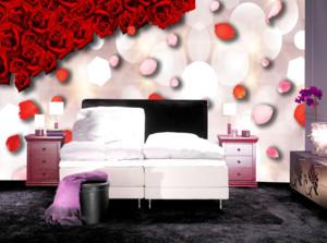 30平米3D卧室背景墙装修效果图