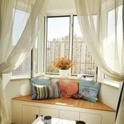 韩式清新阳台飘窗装饰