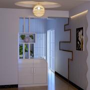 现代风格玄关白色系鞋柜装饰