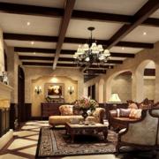 美式原木客厅照片墙装饰