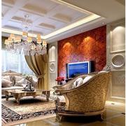 欧式风格奢华客厅窗帘装饰