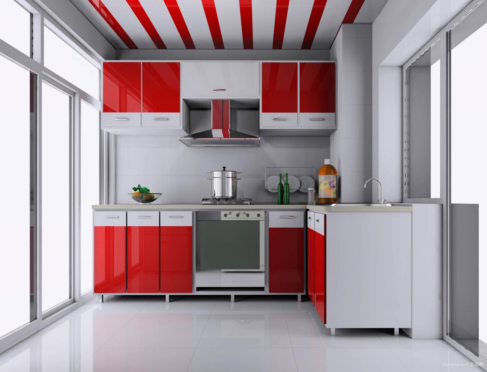 120平米大户型欧式厨房吊顶设计装修效果图