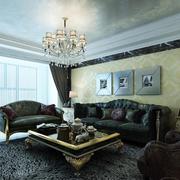 简欧风格客厅皮制沙发装饰