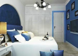 30平米地中海风格公寓卧室装修效果图