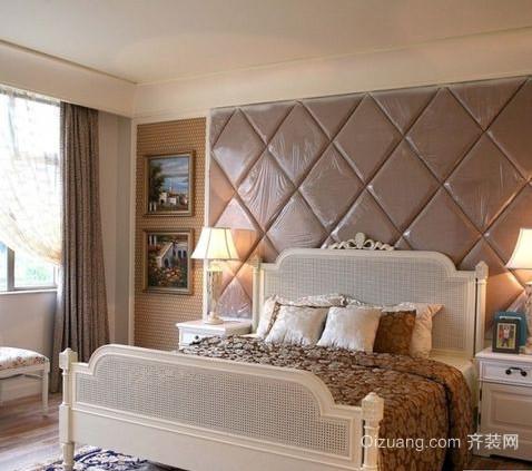 30平米精致欧式软包卧室背景墙