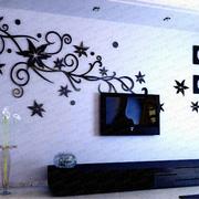 墙贴图片欧式棕色款