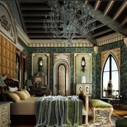 巴洛克奢华卧室吊顶装饰