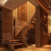 日式简约风格木制楼梯装饰