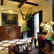 美式田园客厅背景墙