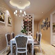 复式楼欧式简约风格餐厅背景墙装饰