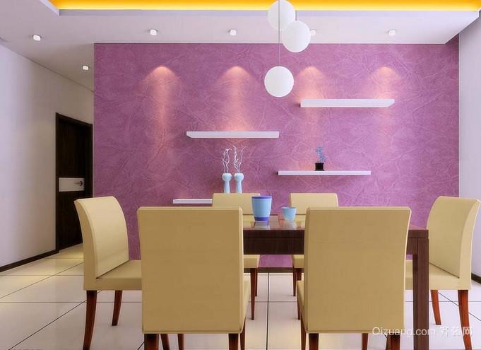 现代简欧奢华式餐厅背景墙效果图