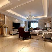 欧式风格奢华客厅吊顶