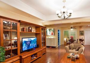 100平米客厅实木电视柜装修效果图