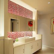 复式楼简约风格卫生间浴室柜装饰