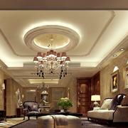 欧式风格别墅客厅软包电视背景墙装饰