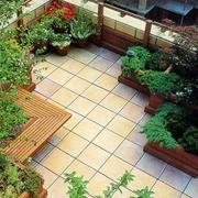 美式简约风格屋顶花园装饰