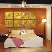 卧室新颖魔块背景墙