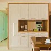日式简约整体式置物柜装饰
