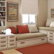 美式简约风格墙面内嵌式储物柜装饰