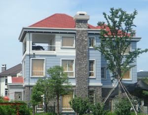 大户型现代农村别墅外墙砖外观效果图