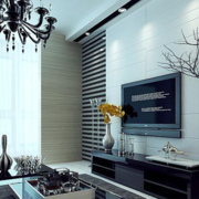后现代风格深色系电视墙装饰