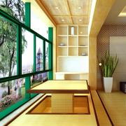 日式经典风格阳台榻榻米装饰