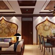 东南亚风情原木吊顶装饰