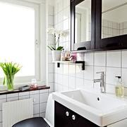 后现代风格黑白色经典卫生间镜饰装饰